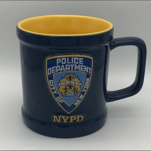 NYPD City of New York Raised Mug Yellow Interior